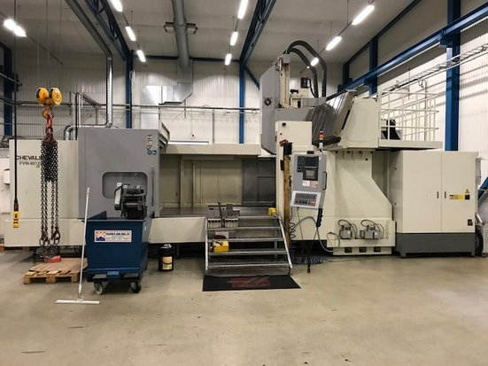 Used die and mold making machine Chevalier FVM-80125DC